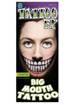 Tatuaje temporal Big Mouth Chompers