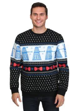 Suéter de Navidad con estampado de preguntas de Doctor Who D