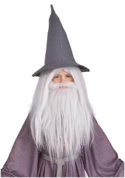 Juego de peluca y barba de Gandalf para niños