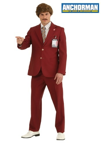 Disfraz auténtico de Ron Burgundy talla extra