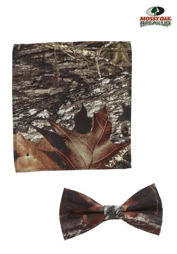 Corbata y pañuelo de bolsillo de roble con musgo
