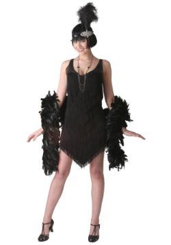 Disfraz de Flapper negro de lujo