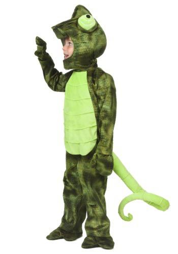 Disfraz de camaleón para niños pequeños