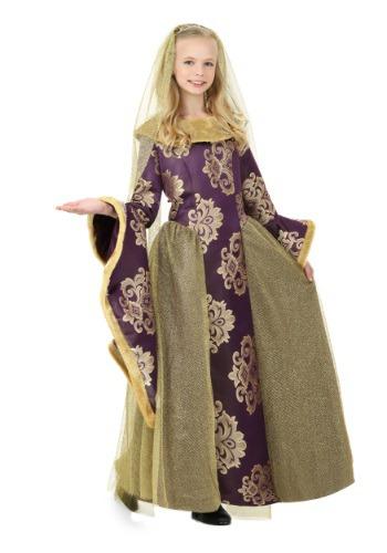 Disfraz infantil de Reina del Renacimiento