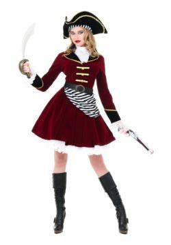 Disfraz de Capitán Garfio con sombrero para mujer
