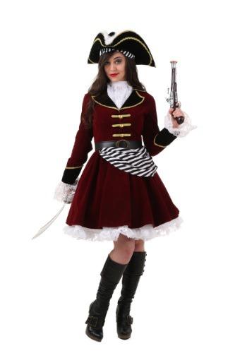 Disfraz Capitán Garfio para mujer con sombrero talla extra