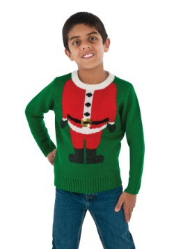 Suéter de Navidad Niño Santa Head
