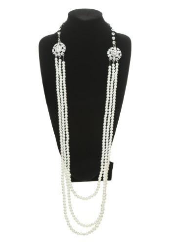 Collar estilo Flapper de perlas y diamantes de imitación
