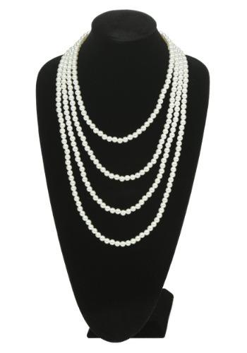 Collar estilo flapper multi tiras de perlas