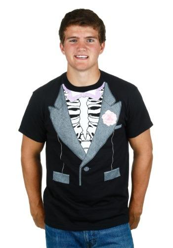 Camisa de disfraz de esmoquin esqueleto