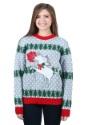 Unicornio Rudolph Feo Suéter de Navidad