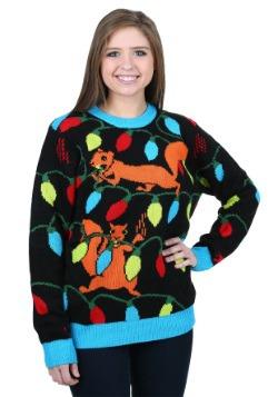 Suéter de Navidad feo de luces de Navidad