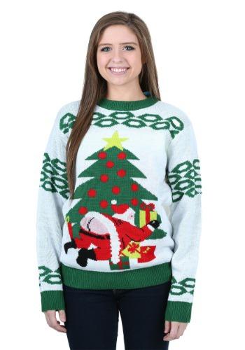 Suéter navideño feo de Santa malportado