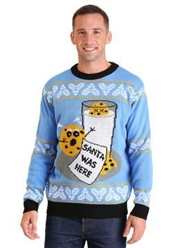 Suéter navideño feo de Santa hambriento