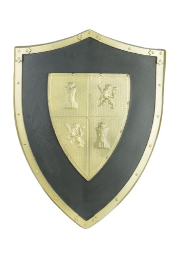 Escudo con bordes dorados