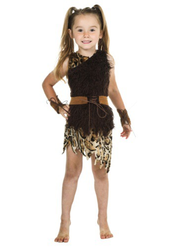 Disfraz de mujer cavernícola para niños pequeños
