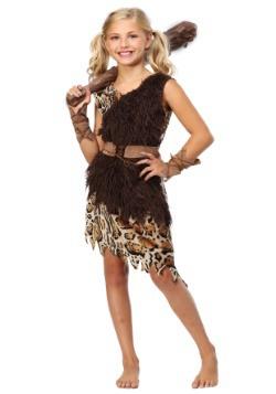 Disfraz infantil de chica cavernícola