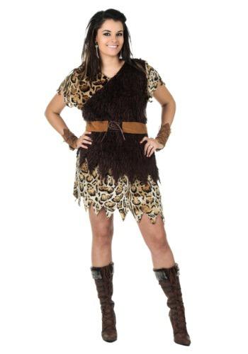 Disfraz de mujer de las cavernas talla extra