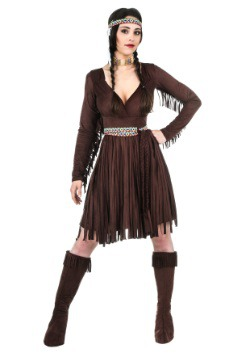 Vestido de mujer nativo-americana para mujer talla extra