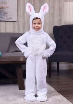 Vestido conejo blanco con cara abierta para niños pequeños