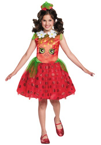 Disfraz clásico para niñas de Shopkins Strawberry Kiss