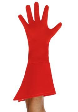 Guantes de superhéroe rojos para adulto