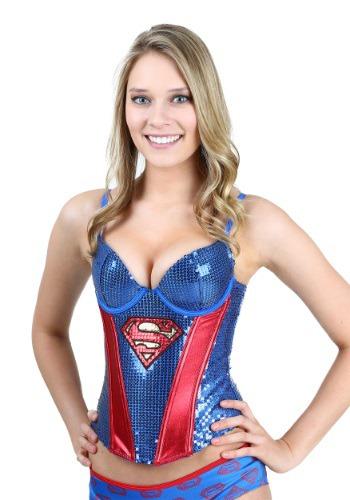 Corsé con lentejuelas de Superman
