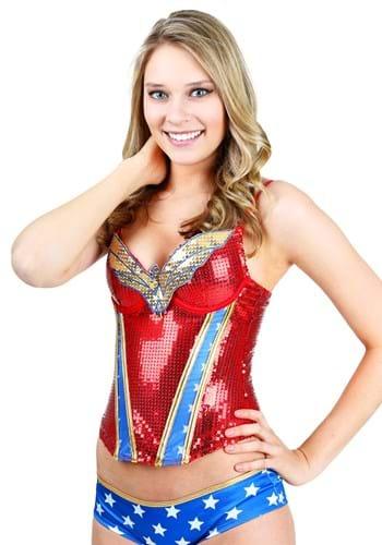 Corsé de lentejuelas de Wonder Woman