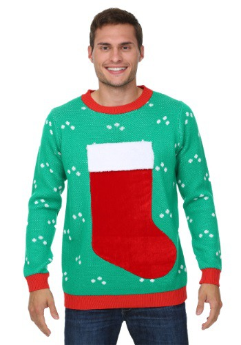Suéter de media Navidad 3D