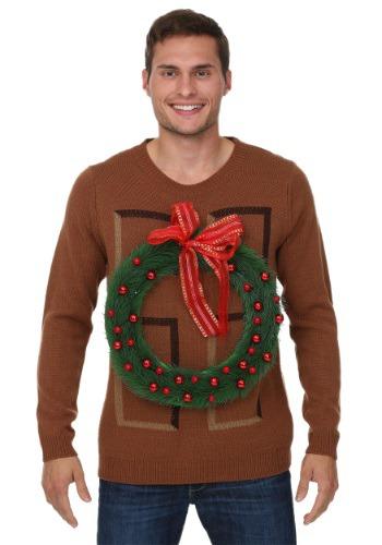 Suéter de puerta de Navidad guirnalda