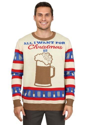 Todo lo que quiero para Navidad es suéter de cerveza