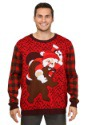 Suéter navideño de Santa vs. Bear