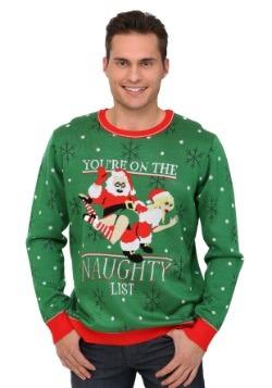El suéter de Navidad de You're On The Naughty List para homb
