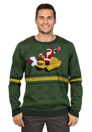 Suéter navideño de Santa sobre el tanque de los hombres
