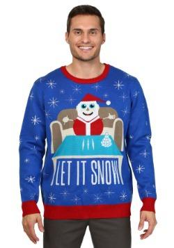 Suéter de Navidad Let it Snow para hombres