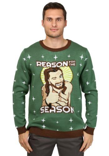 Motivo de los hombres para el suéter de Navidad de la tempor