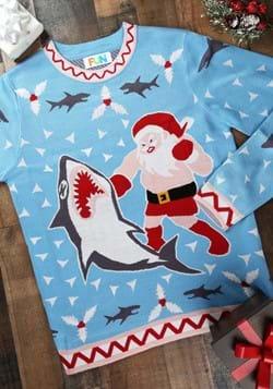 Jersey de Navidad Santa vs Shark para hombre