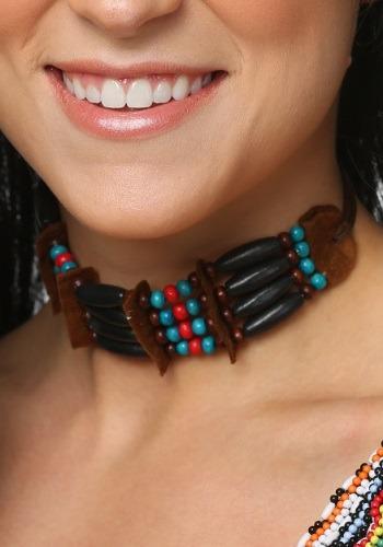Gargantilla negra con cuentas estilo nativo americano