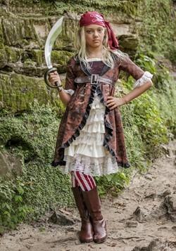 Disfraz para niñas de pirata con abrigo café
