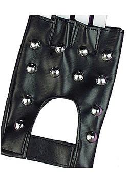 Guantes de motociclista con tachuelas