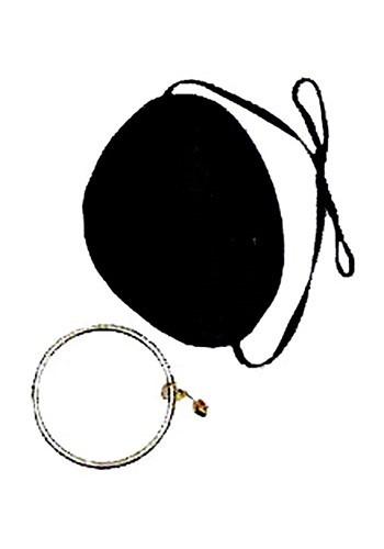 Parche de ojo pirata con pendiente