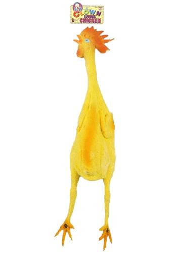 Pollo de goma de utilería