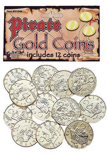 Monedas de oro de pirata