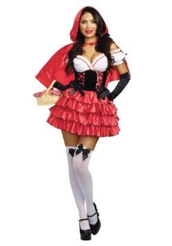 Disfraz de Caperucita Roja con volantes para mujer