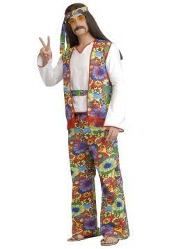 Disfraz de hippie para hombre talla extra