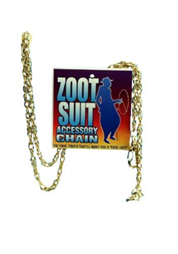 Cadena dorada para traje Zoot