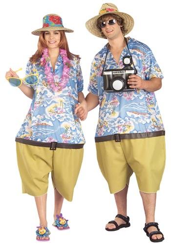 Disfraz de turista tropical para adulto