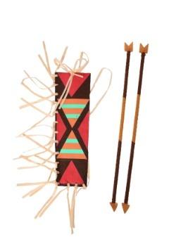 Conjunto indio de aljaba y flecha