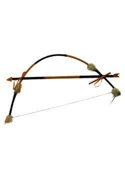 Conjunto de arco y flecha indios emplumados