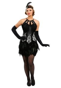 Disfraz de Showgirl con plumas para mujer